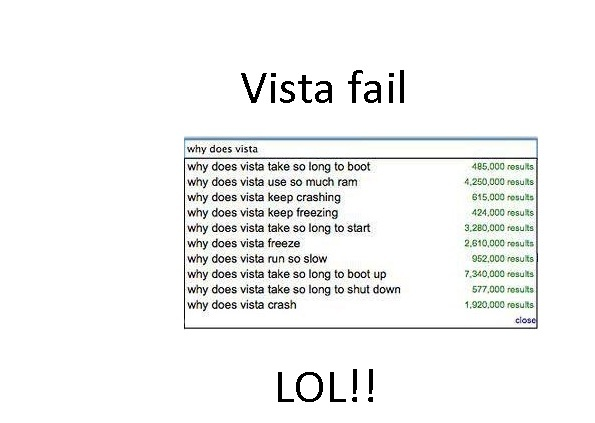 why windows vista failed